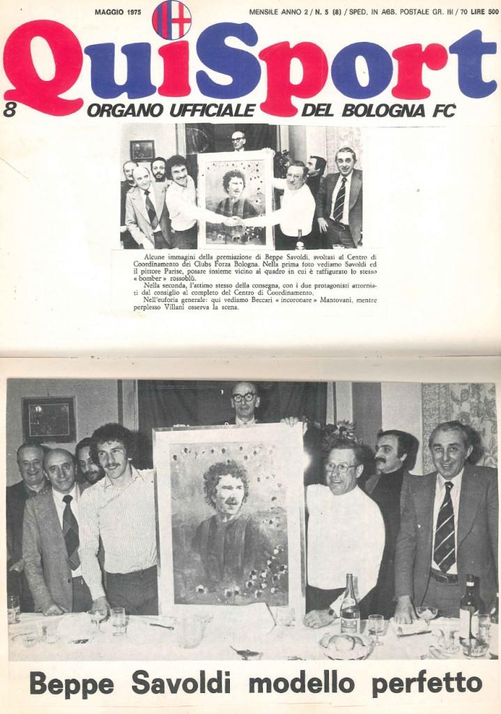 BOLOGNA F.C. MAGGIO 1975
