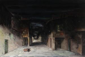 Scorcio della vecchia Bologna -‐ olio su tela 80x120 -‐ 1976