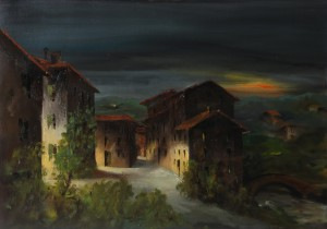 Fuori porta Lame (1900) olio su tela 50x70