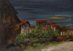 Via Capo di Lucca (vecchia Bologna) – olio su tela 50x70 -‐ 1986